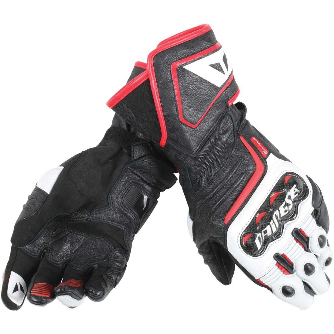 dd809616333 Guantes DAINESE Carbon D1 Long Black   White   Lava Red · Motocard