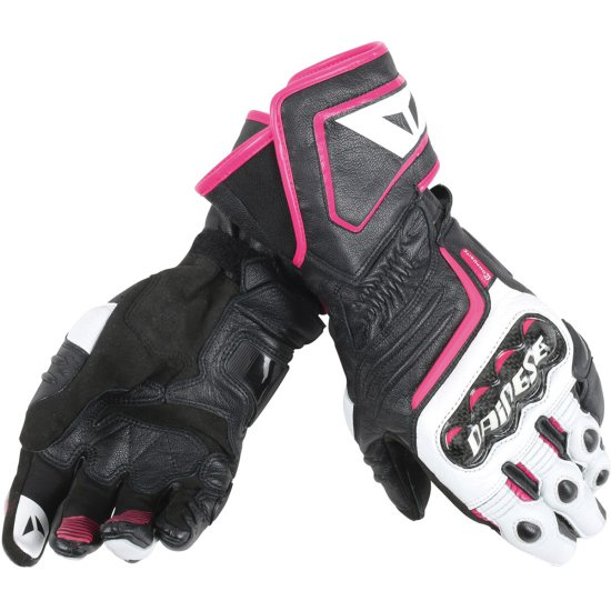 Luvas DAINESE Carbon D1 Long Lady Black / White / Fucsia