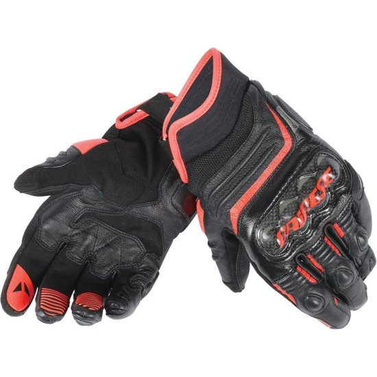 Guantes DAINESE Carbon D1 Short Black / Fluo-Red
