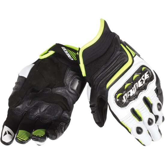 Gants DAINESE Carbon D1 Short Black / White / Fluo Yellow