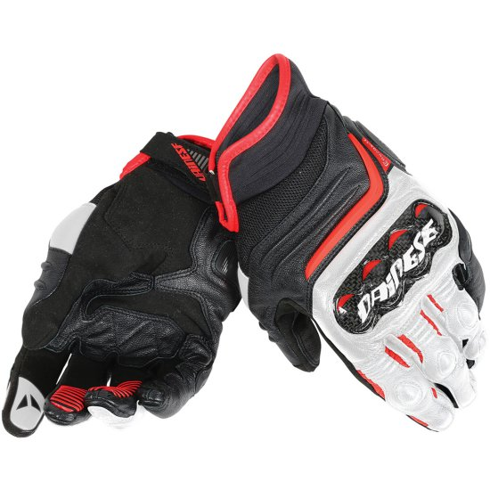 DAINESE Carbon D1 Short Black / White / Lava Red Gloves