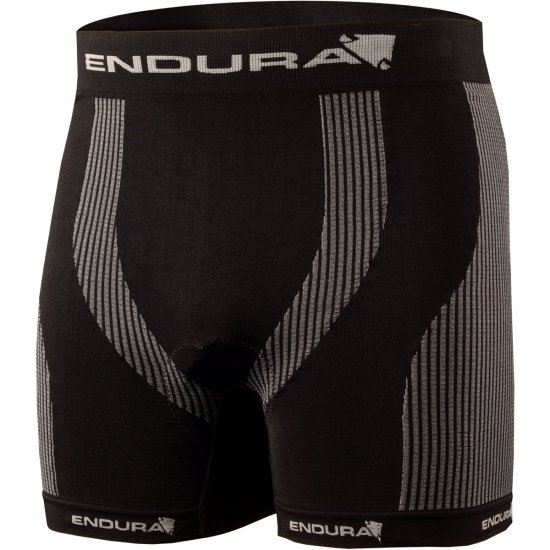 Roupa interior ENDURA Engineered Padded Boxer Black