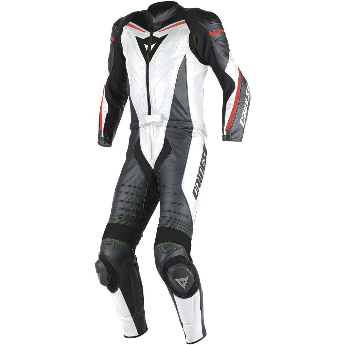DAINESE Laguna Seca D1 White / Black / Red Fluo Suit