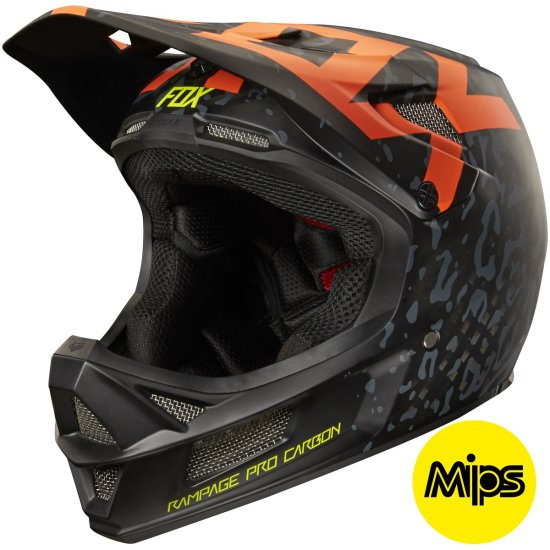 FOX Rampage Pro Carbon 2016 Cauz Orange Helmet