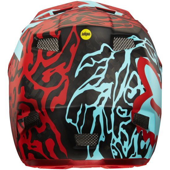 Casco FOX Rampage Pro Carbon 2016 Cauz Red