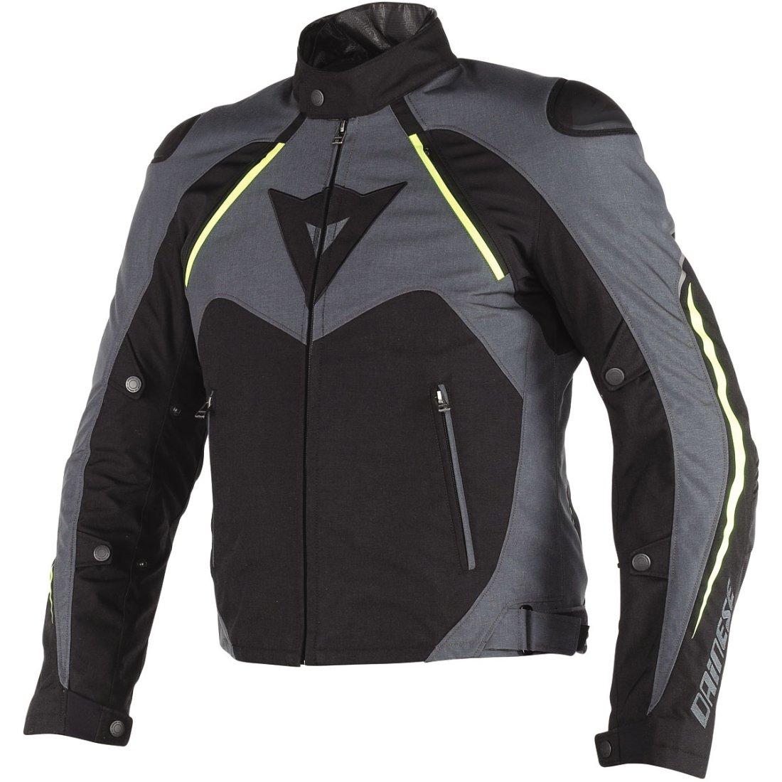 DAINESE Hawker D-Dry Black / Ebony / Fluo-Yellow Jacket