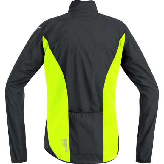 Giacchetta GORE E Windstopper Active Shell Black / Neon Yellow