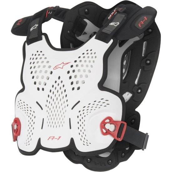 Protezione ALPINESTARS A-1 White / Black / Red