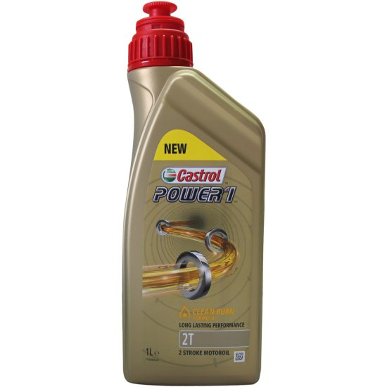 aceite y spray castrol power 1 2t 1l motocard. Black Bedroom Furniture Sets. Home Design Ideas