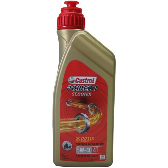 huiles et sprays castrol power 1 scooter 4t 1l 5w 40 motocard. Black Bedroom Furniture Sets. Home Design Ideas