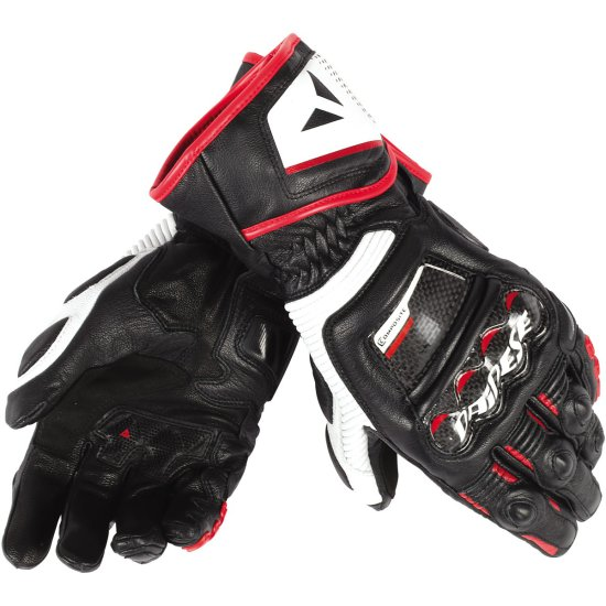 Guanto DAINESE Druid D1 Long Black / White / Lava-Red