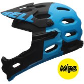BELL Super 2R MIPS 2016 Equipped Matte Black / Blue Agression