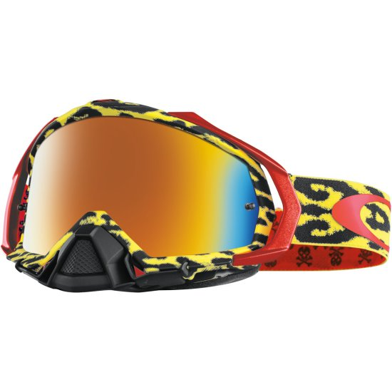 Máscara / Gafas OAKLEY Mayhem Pro MX Troy Lee Designs Cheetah Yellow Fire Iridium