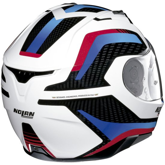 Casque NOLAN N87 Arkad N-Com Metal White