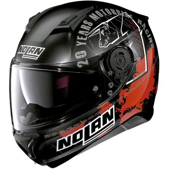 Casco NOLAN N87 Iconic Replica N-Com Carlos Checa Flat Black