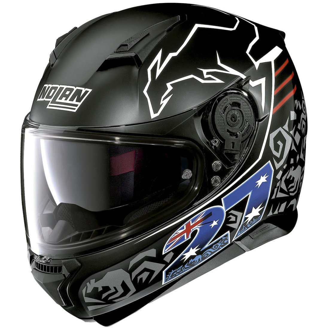 nolan n87 iconic replica n com casey stoner flat black helmet motocard. Black Bedroom Furniture Sets. Home Design Ideas