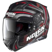 NOLAN N87 Ledlight N-Com Glossy Black Red