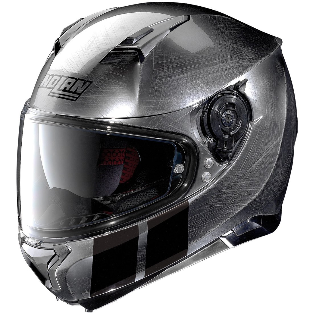 nolan n87 martz n com scratched chrome helmet motocard. Black Bedroom Furniture Sets. Home Design Ideas