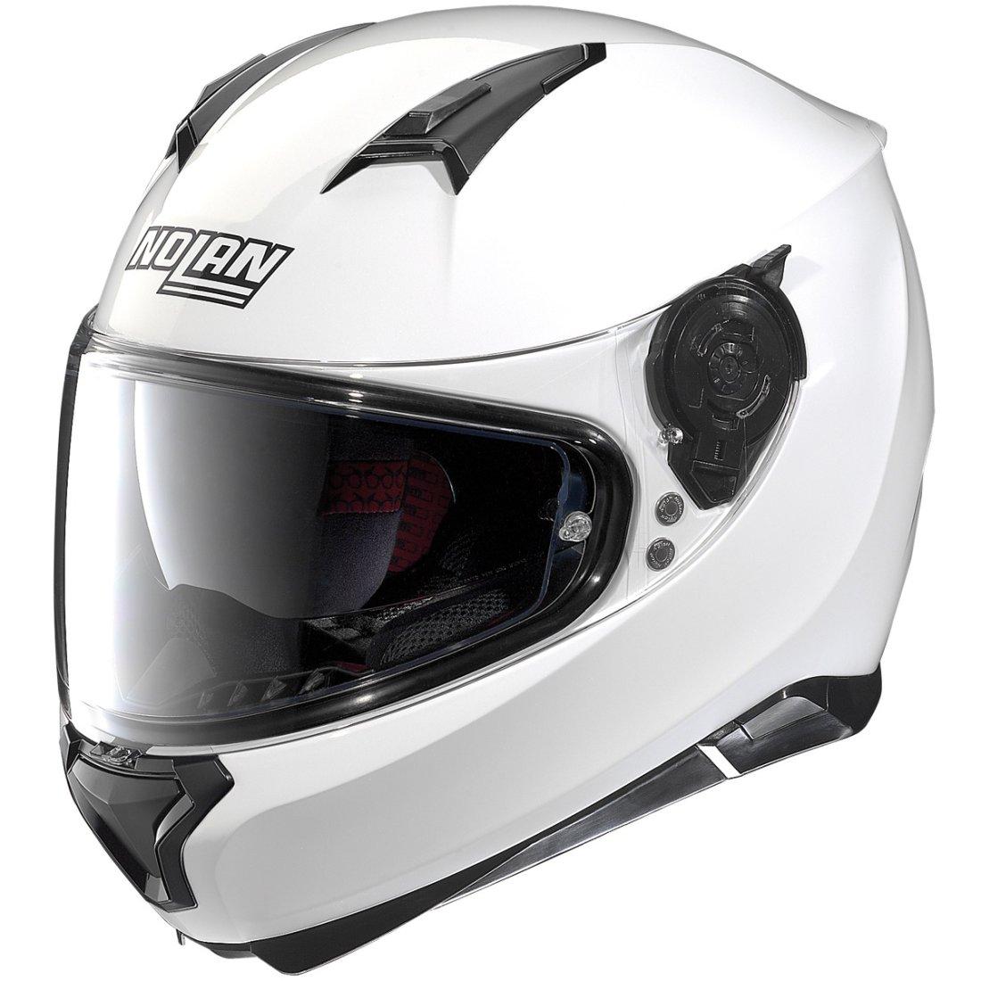 bcb9f43944123 NOLAN N87 Special Plus N-Com Pure White Helmet · Motocard