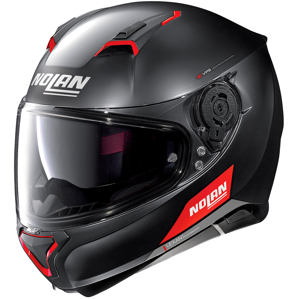 Casco NOLAN N87 Emblema N-Com Flat Black / Red