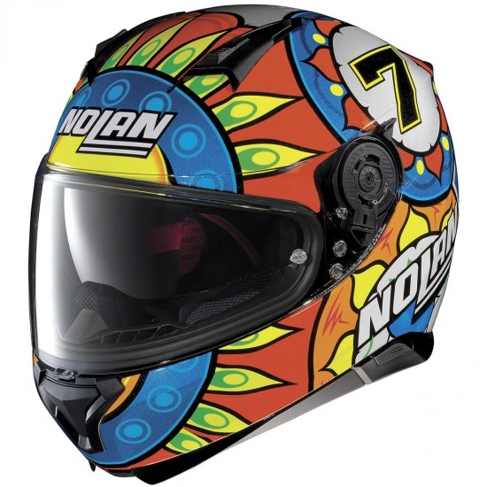 NOLAN N87 Gemini Replica N-Com Chaz Davies Metal Black Helmet