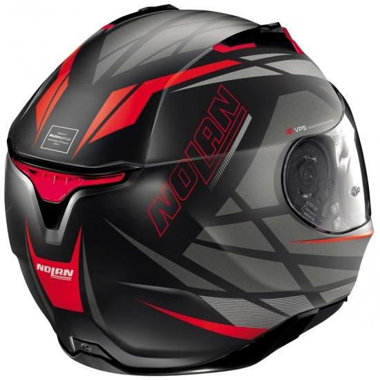 Helm NOLAN N87 Originality N-Com Flat Black / Red