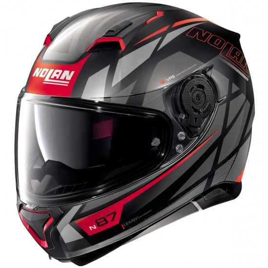 Casco NOLAN N87 Originality N-Com Flat Black / Red