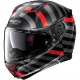 N87 Shockwave N-Com Flat Black / Grey / Red