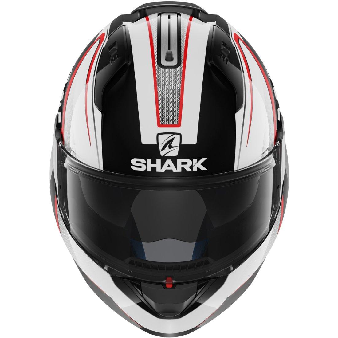 casco shark evo one astor black white red motocard. Black Bedroom Furniture Sets. Home Design Ideas