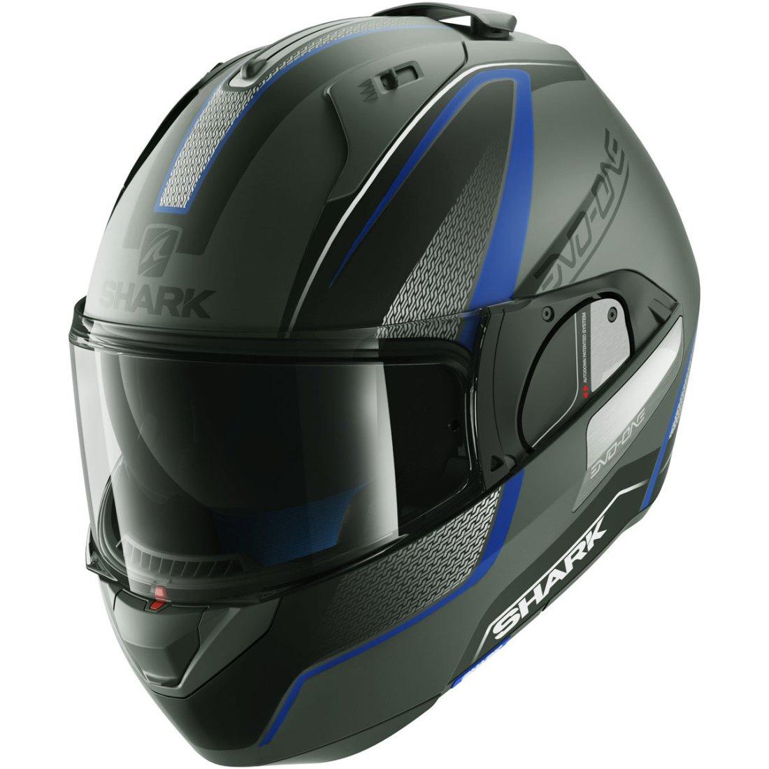shark evo one astor mat silver black blue helmet motocard. Black Bedroom Furniture Sets. Home Design Ideas