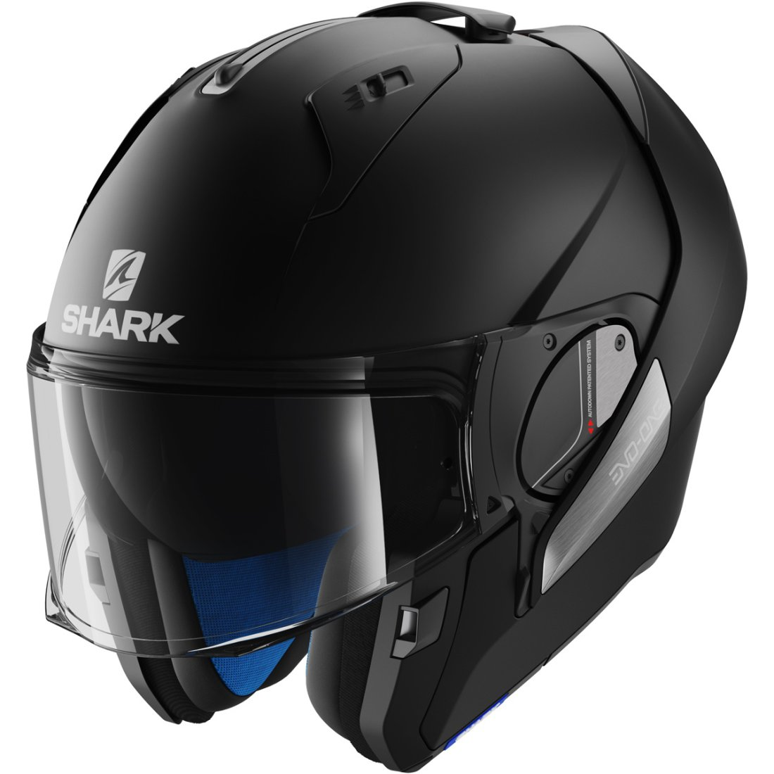 shark evo one blank mat black helmet motocard. Black Bedroom Furniture Sets. Home Design Ideas