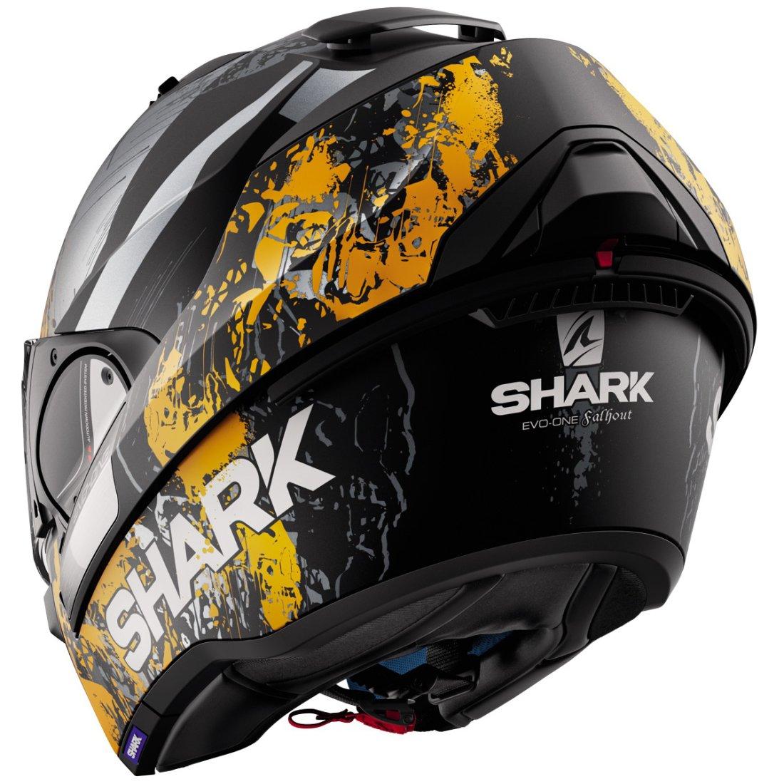 shark evo one falhout mat black orange anthracite helmet motocard. Black Bedroom Furniture Sets. Home Design Ideas