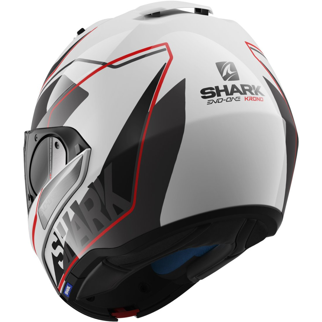 casco shark evo one krono white black red motocard. Black Bedroom Furniture Sets. Home Design Ideas
