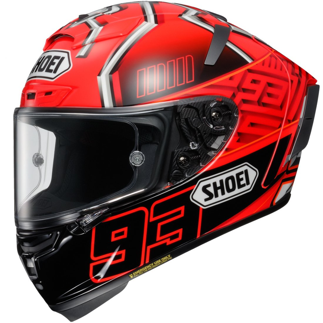 shoei x spirit 3 marquez 4 tc 1 helmet motocard. Black Bedroom Furniture Sets. Home Design Ideas
