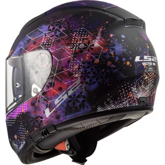 Helm LS2 FF397 Vector HPFC Evo Cosmos Matt Black / Pink