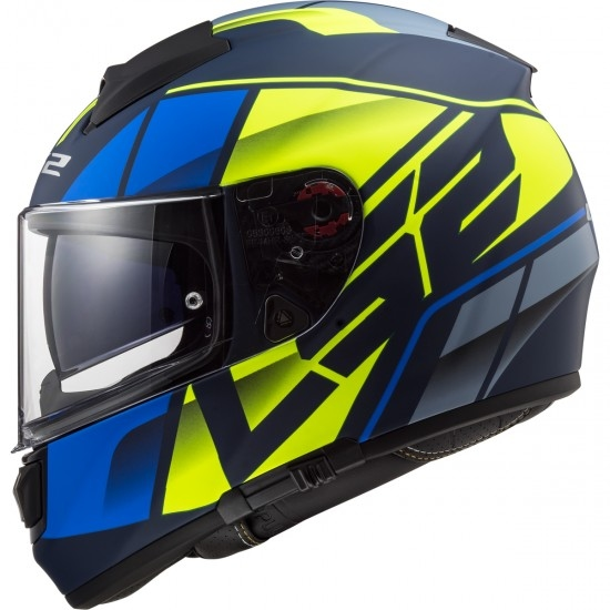 Casque LS2 FF397 Vector HPFC Evo Kripton Matt Blue / H-V Yellow