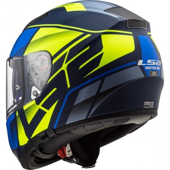 Helm LS2 FF397 Vector HPFC Evo Kripton Matt Blue / H-V Yellow
