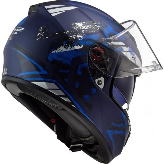 Helm LS2 FF397 Vector HPFC Evo Stencil Matt Blue