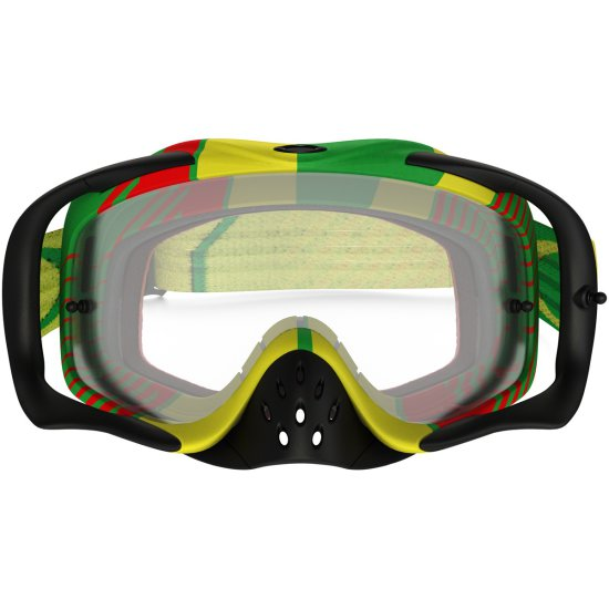 Gafas OAKLEY Crowbar MX Bio Hazard Rasta Clear