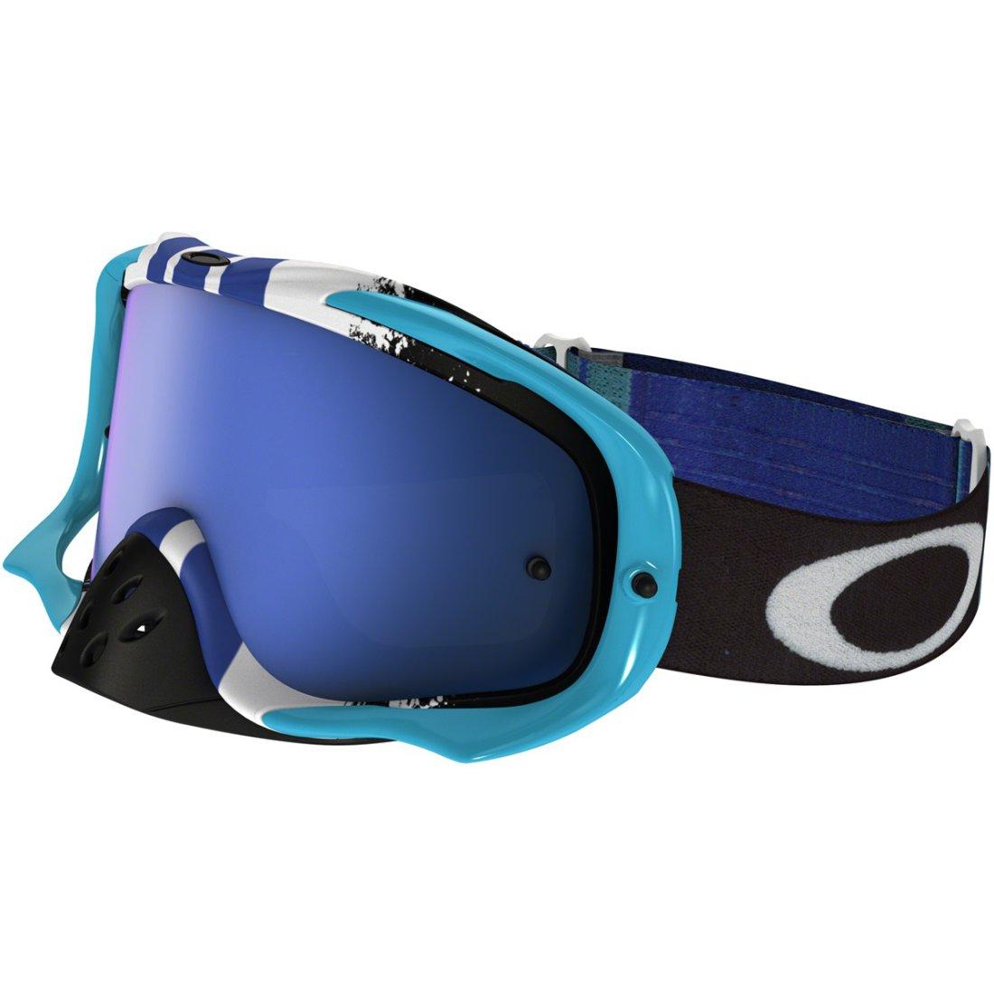 f9091adf73 OAKLEY Crowbar MX Pinned Race Blue   Black Ice Iridium Goggles · Motocard