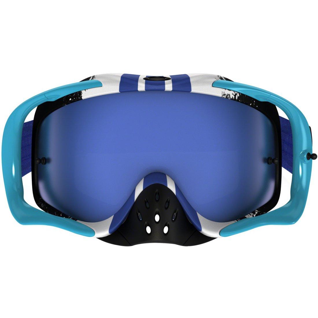 18482453ed OAKLEY Crowbar MX Pinned Race Blue   Black Ice Iridium Goggles ...