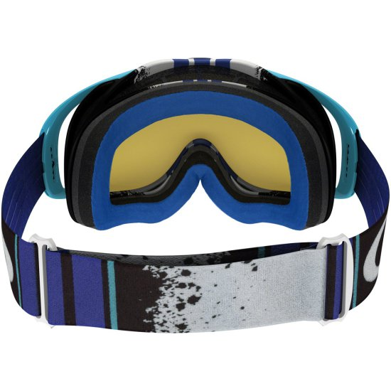 OAKLEY Crowbar MX Pinned Race Blue / Black Ice Iridium Mask / Goggle