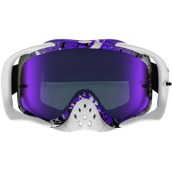 OAKLEY Crowbar MX Splatter Violet Iridium Mask / Goggle