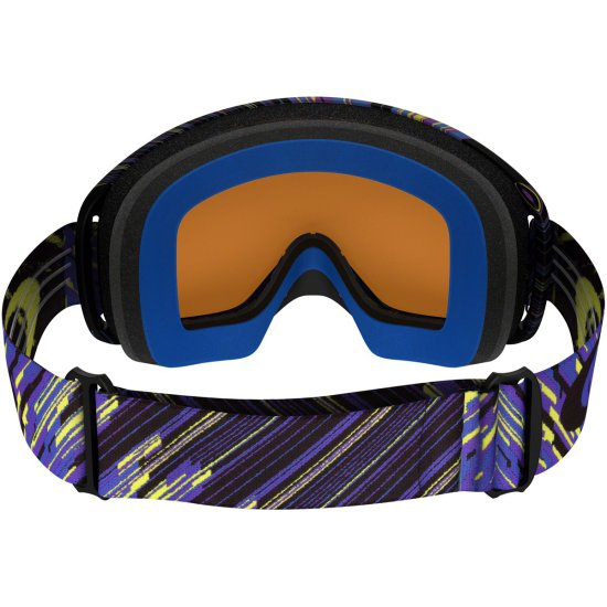 OAKLEY O2 MX Rain of Terror Blue / Purple / Black Ice Iridium Goggles