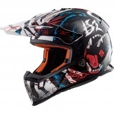 LS2 MX437 Fast Beast Black / White
