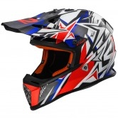 LS2 MX437 Fast Strong White / Blue / Red