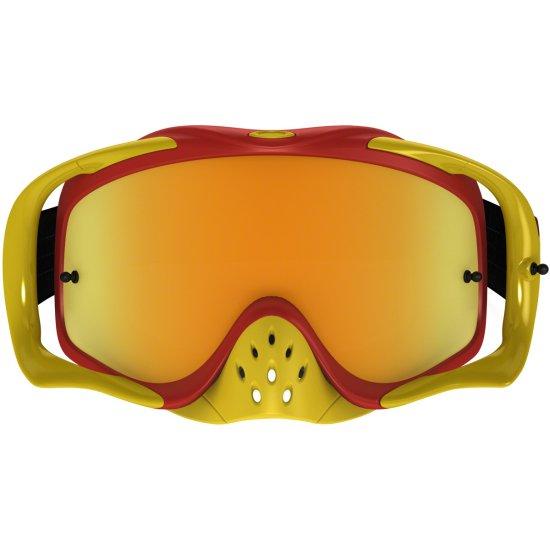 OAKLEY Crowbar MX Shockwave Red 24K Iridium Mask / Goggle