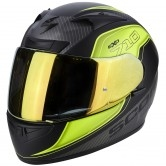 SCORPION Exo-710 Air Mugello Matt Black / Neon Yellow / Silver