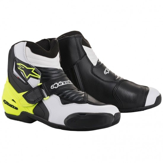Stiefel ALPINESTARS SMX-1 R Black / White / Yellow Fluo
