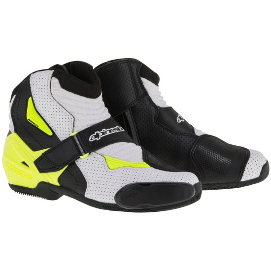 Botas ALPINESTARS SMX-1 R Vented Black / White / Yellow Fluo